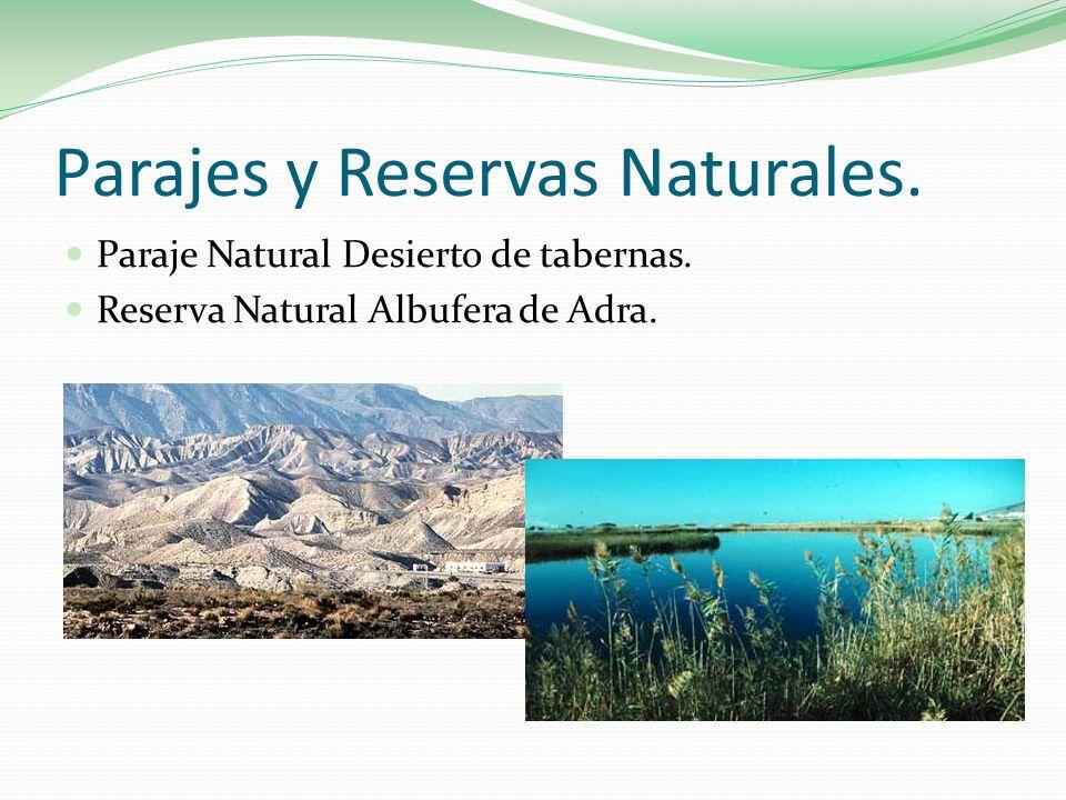 Parajes y Reservas Naturales.