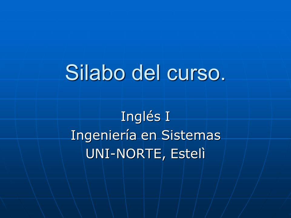 Inglés I Ingeniería en Sistemas UNI-NORTE, Estelì