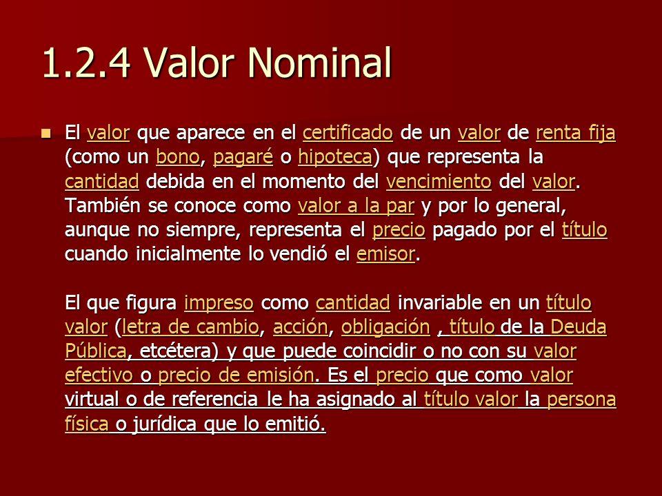 1.2.4 Valor Nominal