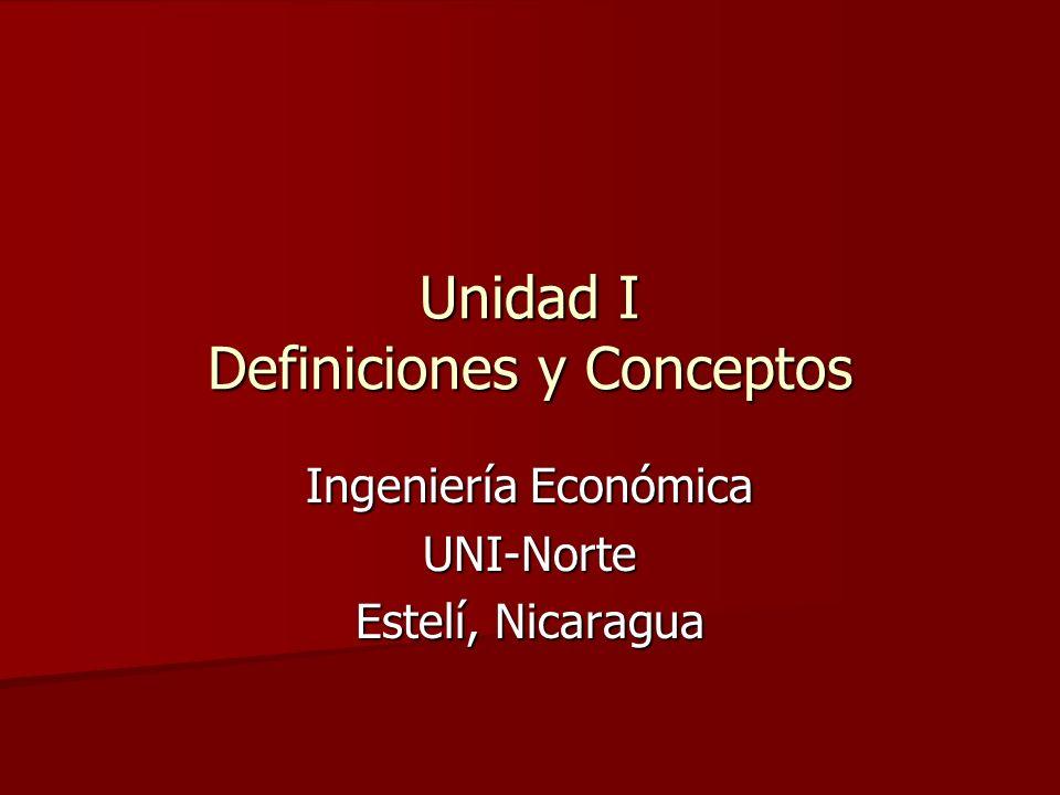Unidad I Definiciones y Conceptos
