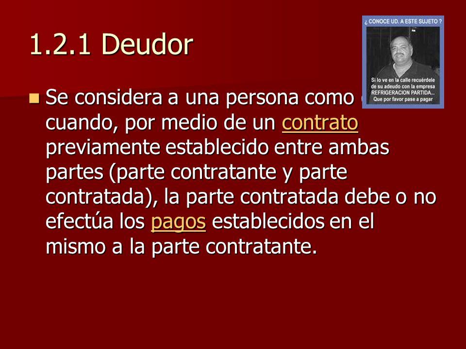 1.2.1 Deudor