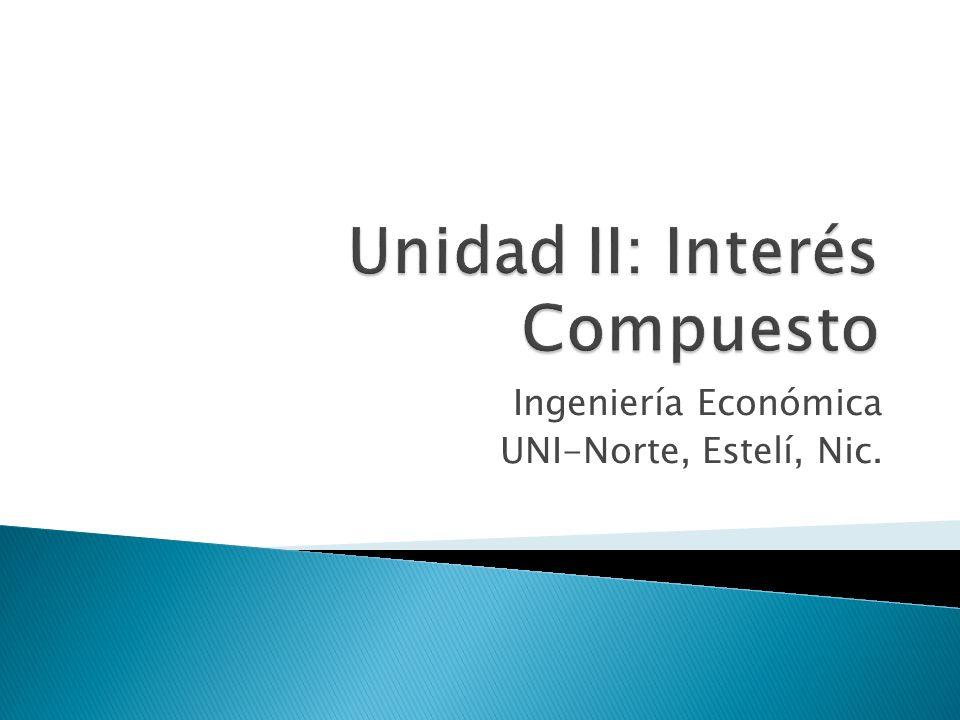 Unidad II: Interés Compuesto