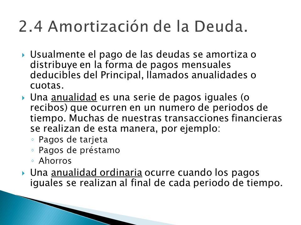 2.4 Amortización de la Deuda.