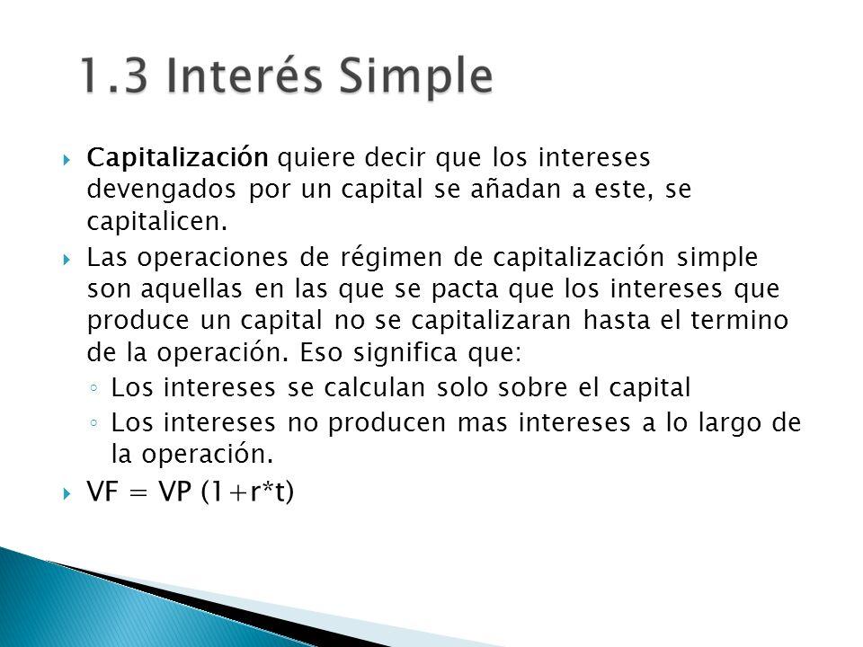 Capitalización quiere decir que los intereses devengados por un capital se añadan a este, se capitalicen.