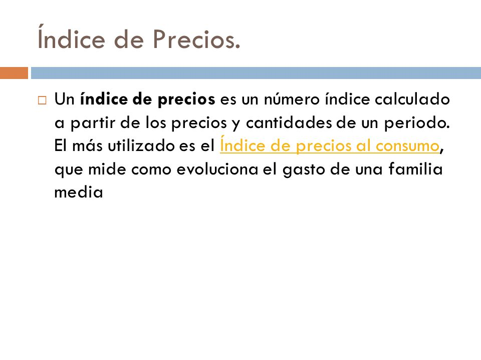 Índice de Precios.