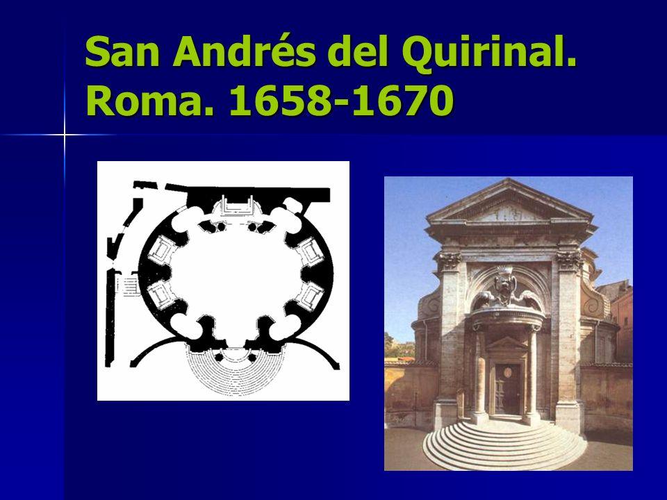 San Andrés del Quirinal. Roma. 1658-1670