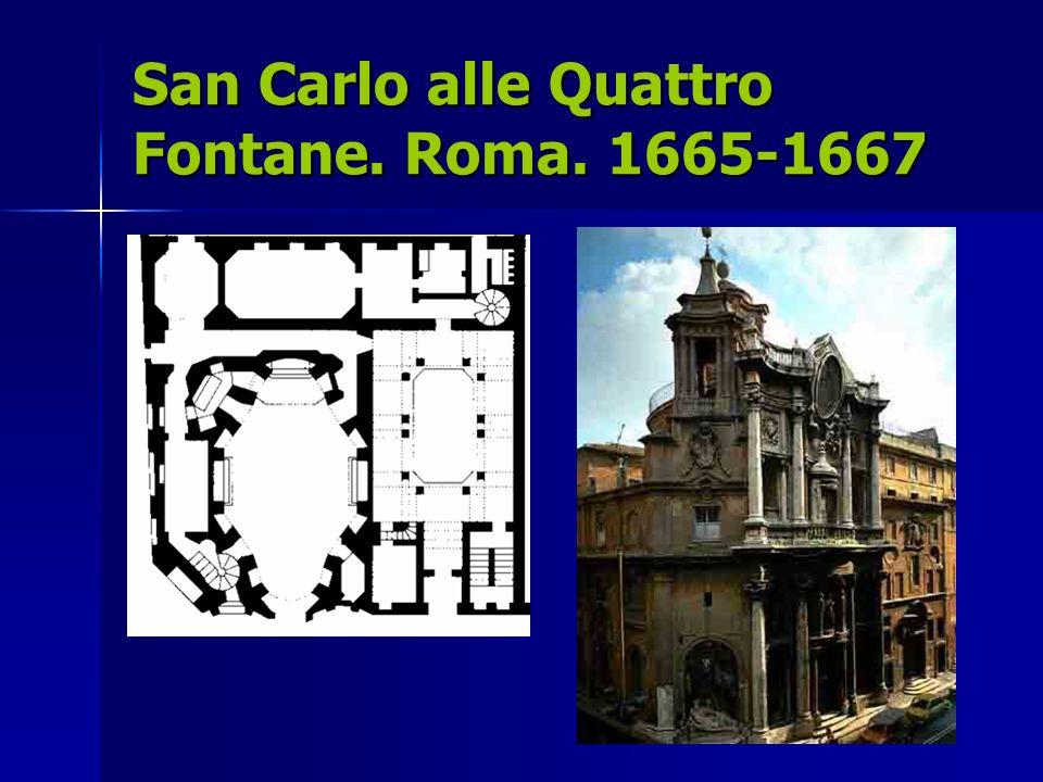 San Carlo alle Quattro Fontane. Roma. 1665-1667