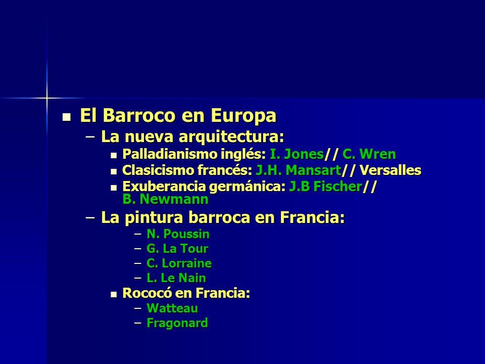 El Barroco en Europa La nueva arquitectura: