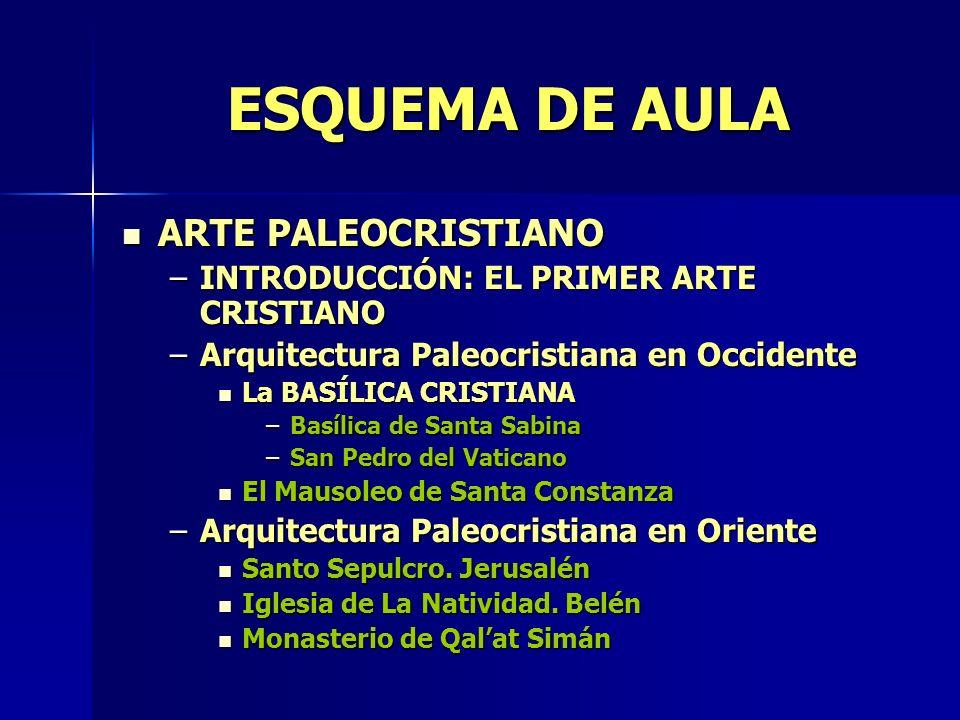 ESQUEMA DE AULA ARTE PALEOCRISTIANO