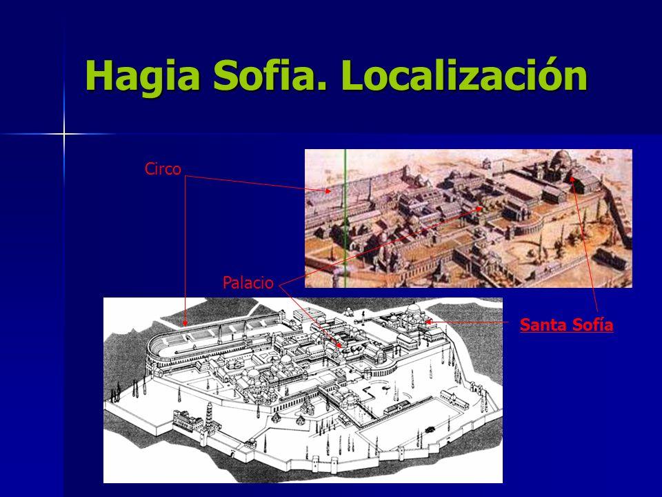 Hagia Sofia. Localización
