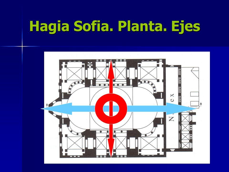 Hagia Sofia. Planta. Ejes