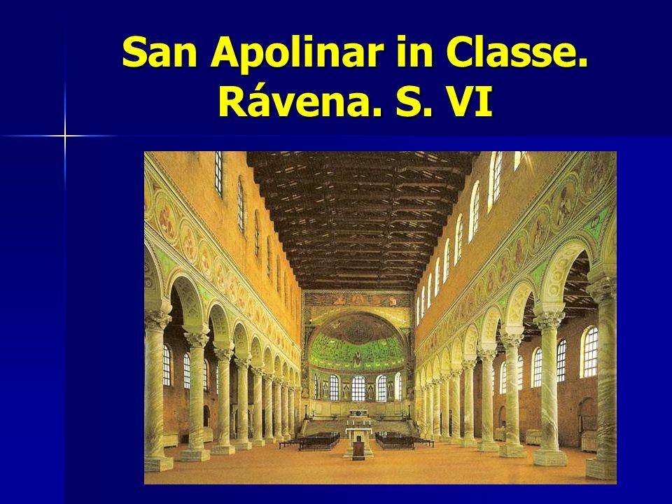San Apolinar in Classe. Rávena. S. VI
