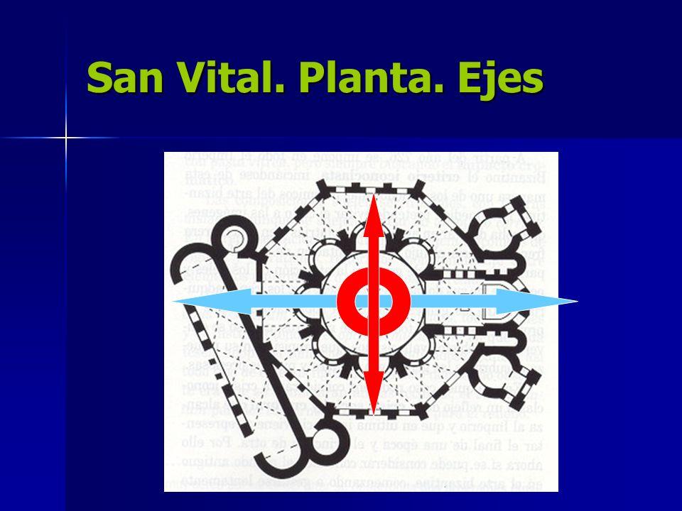 San Vital. Planta. Ejes