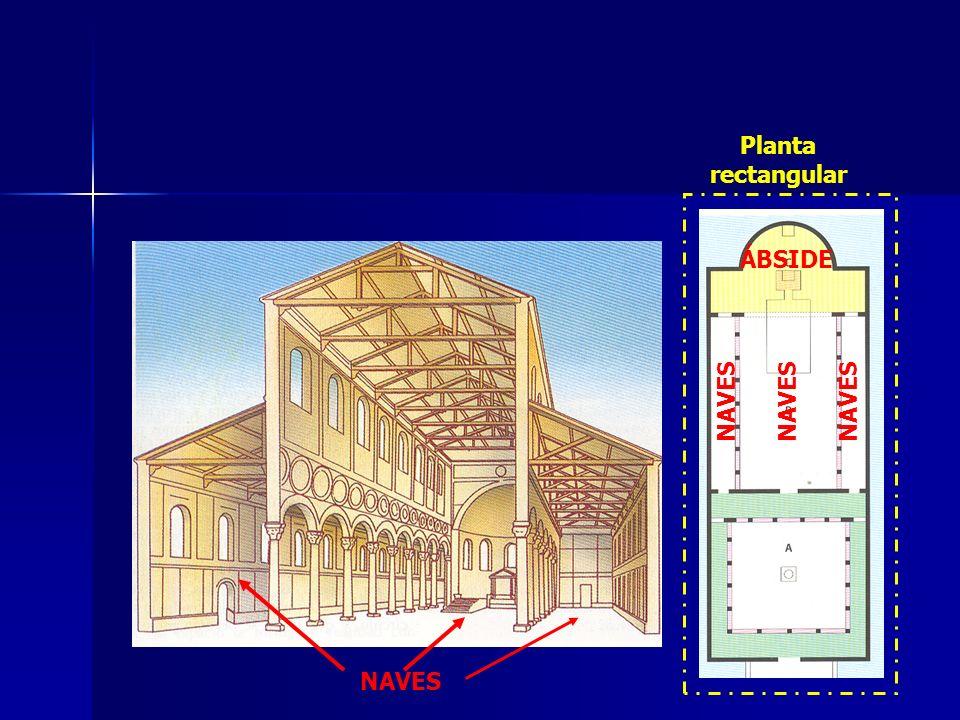 Planta rectangular ÁBSIDE NAVES NAVES NAVES NAVES