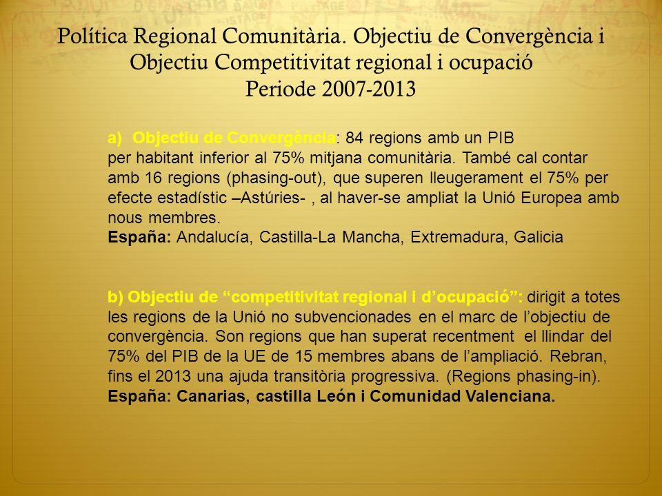 Política Regional Comunitària