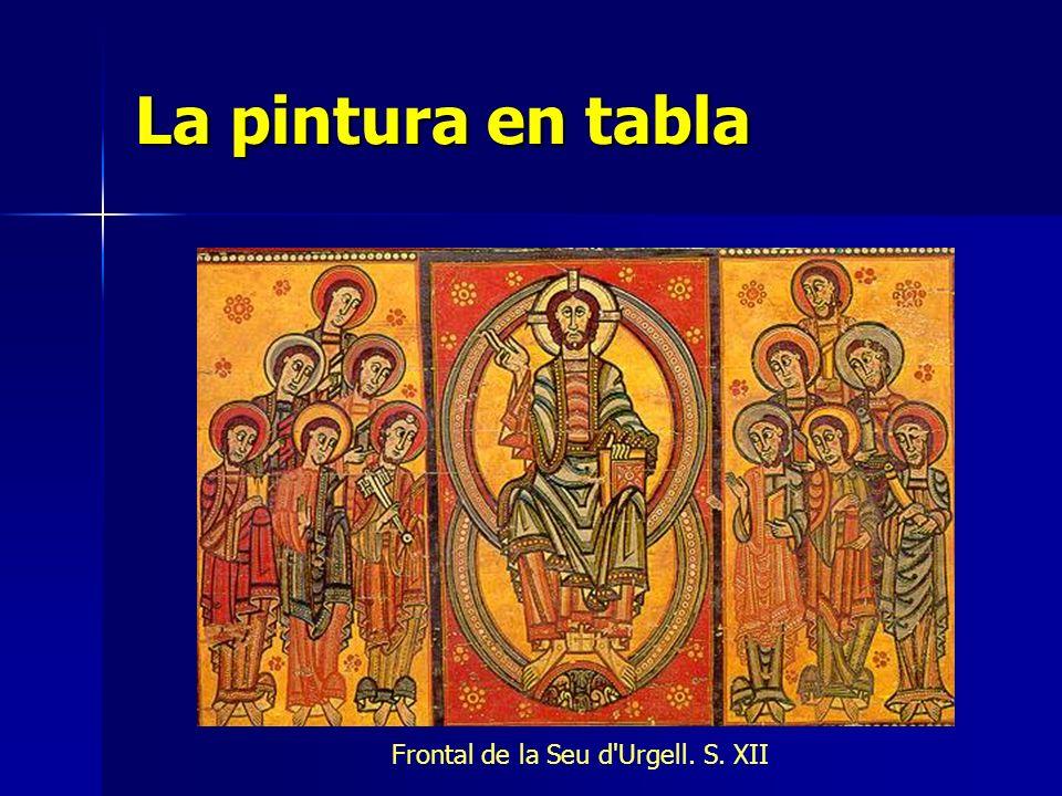 La pintura en tabla Frontal de la Seu d Urgell. S. XII