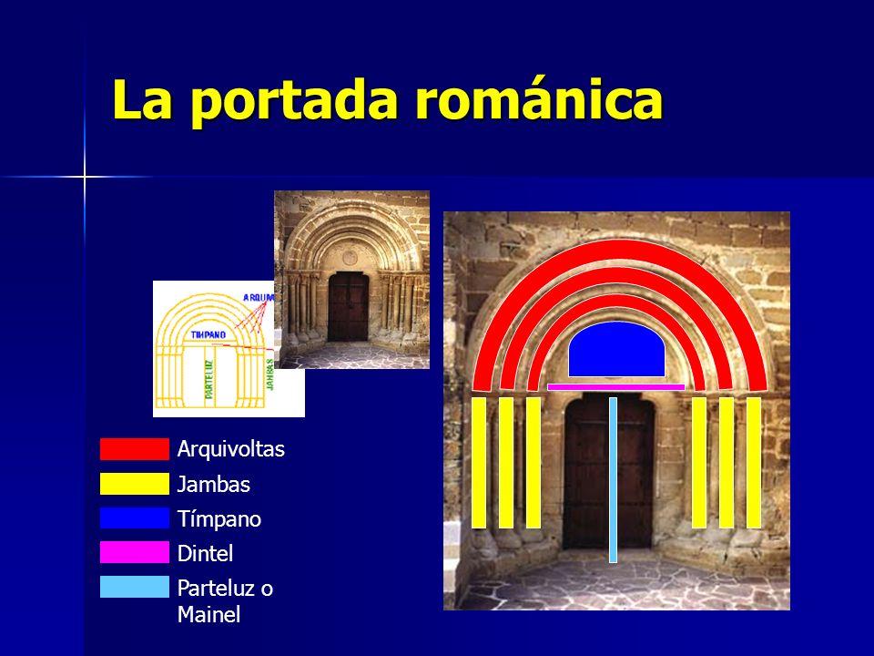 La portada románica Arquivoltas Jambas Tímpano Dintel