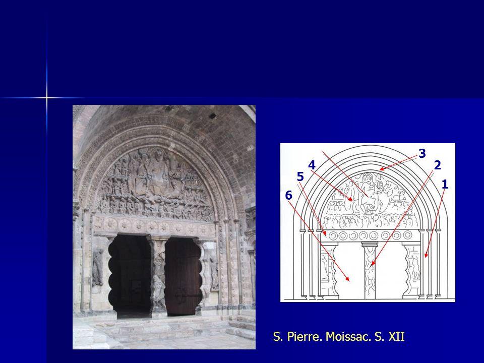 3 4 2 5 1 6 S. Pierre. Moissac. S. XII