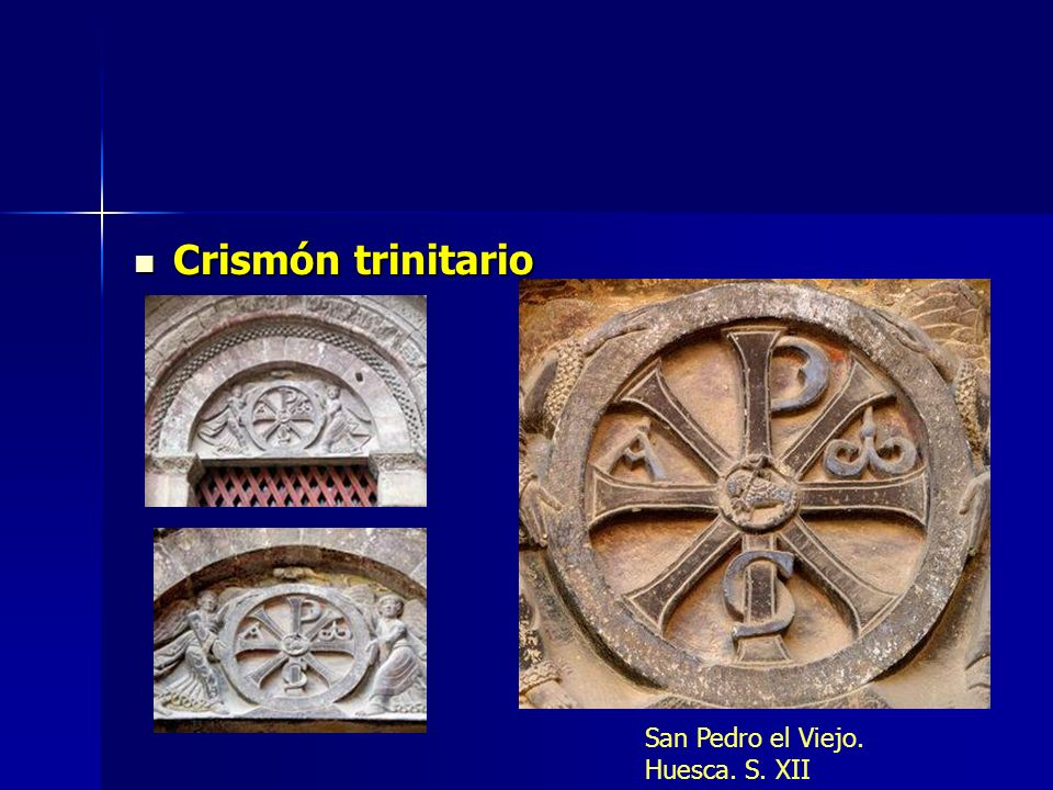 Crismón trinitario San Pedro el Viejo. Huesca. S. XII