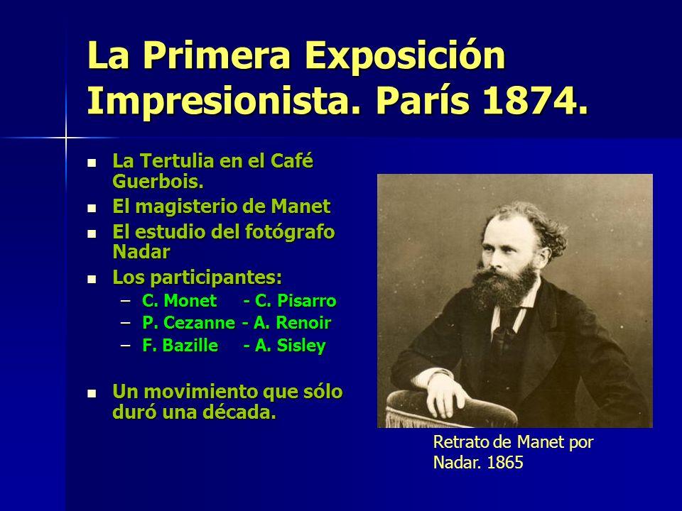 La Primera Exposición Impresionista. París 1874.