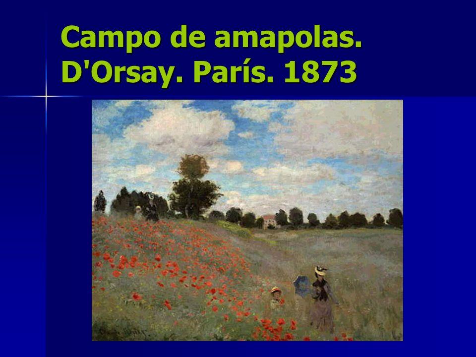 Campo de amapolas. D Orsay. París. 1873