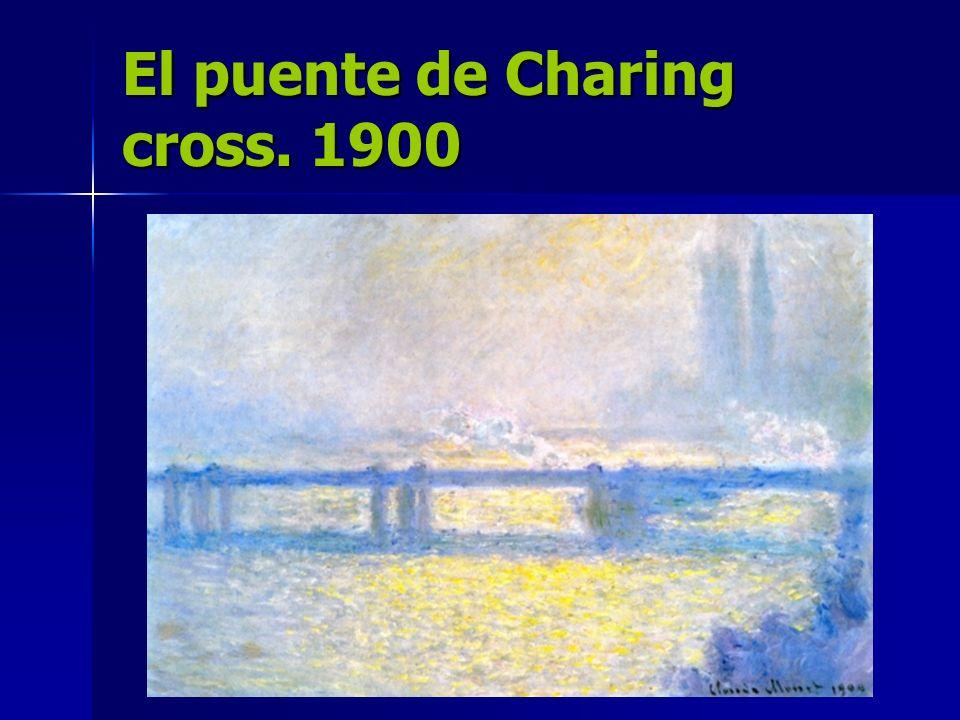 El puente de Charing cross. 1900