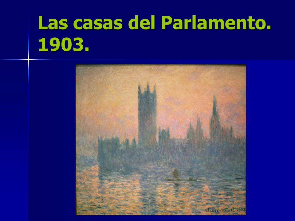 Las casas del Parlamento. 1903.
