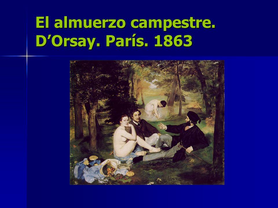 El almuerzo campestre. D'Orsay. París. 1863