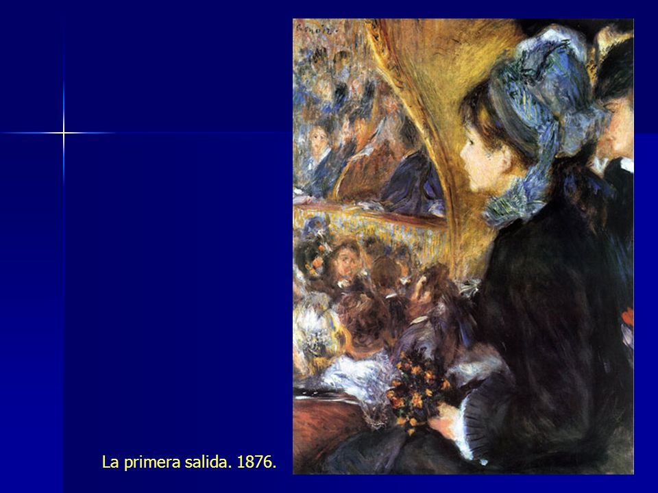 La primera salida. 1876.