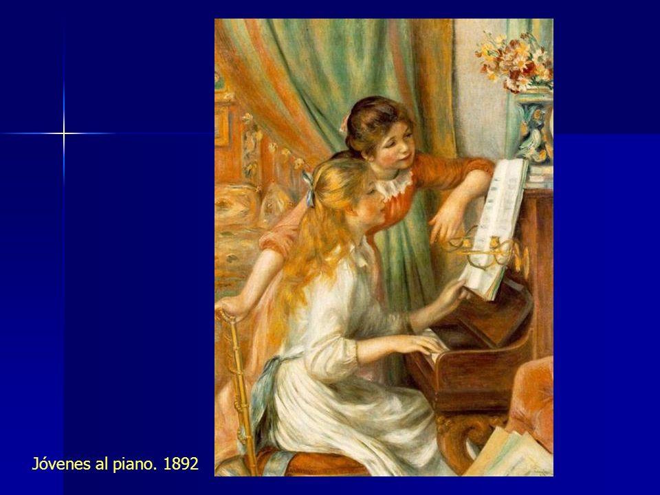 Jóvenes al piano. 1892