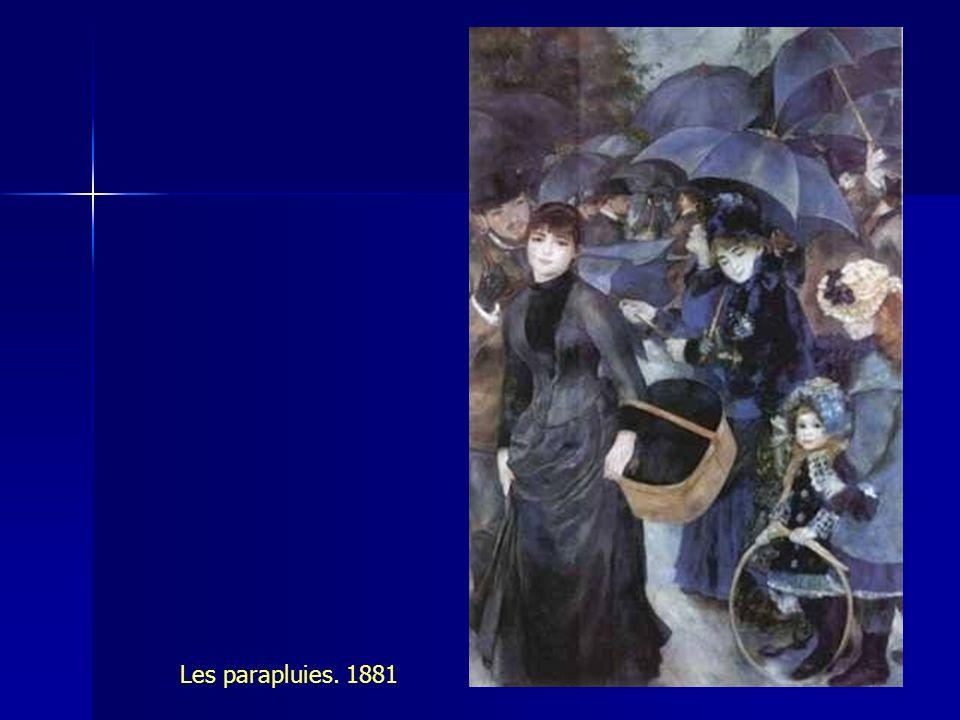 Les parapluies. 1881