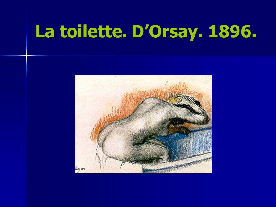 La toilette. D'Orsay. 1896.