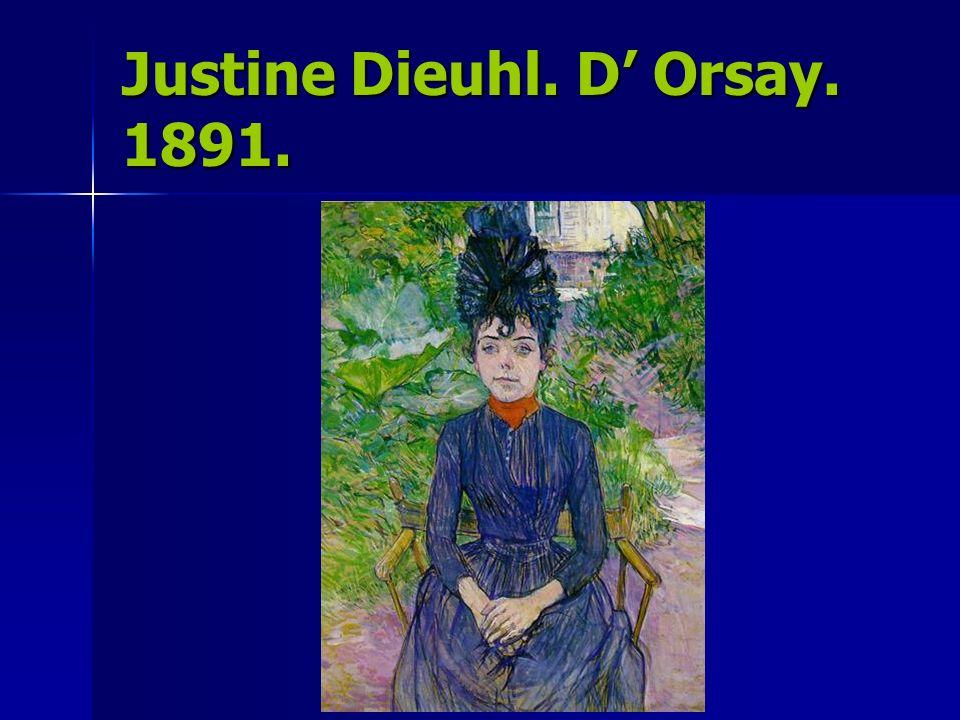 Justine Dieuhl. D' Orsay. 1891.