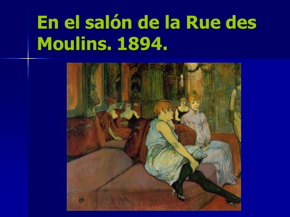 En el salón de la Rue des Moulins. 1894.