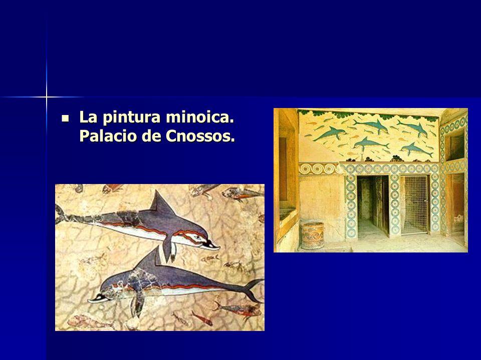 La pintura minoica. Palacio de Cnossos.