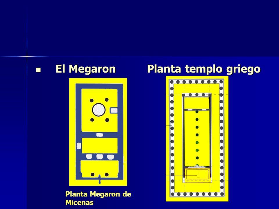 El Megaron Planta templo griego