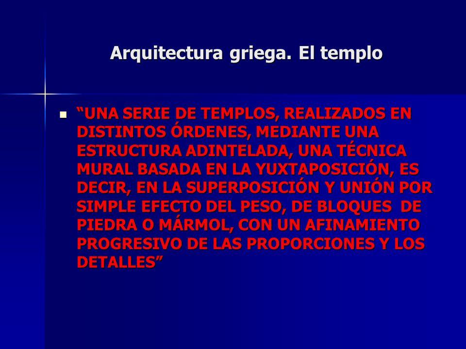 Arquitectura griega. El templo