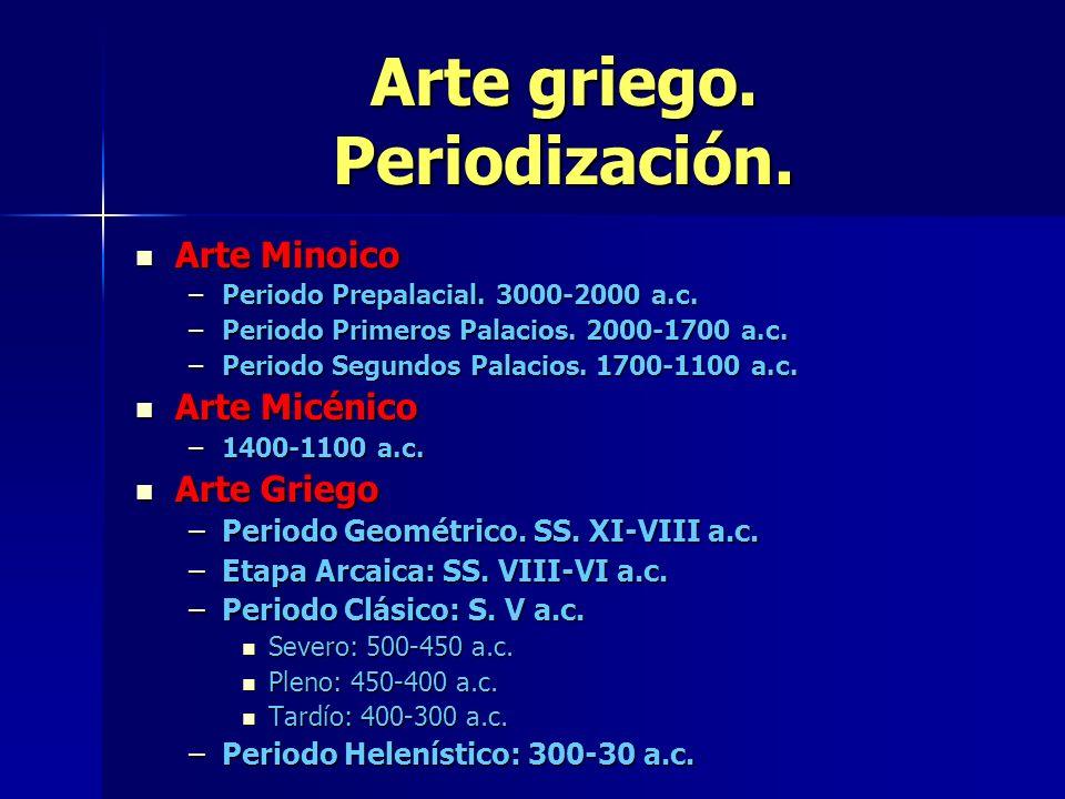 Arte griego. Periodización.
