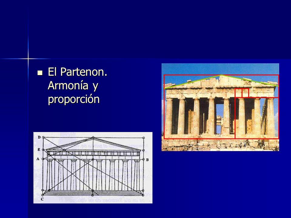 El Partenon. Armonía y proporción
