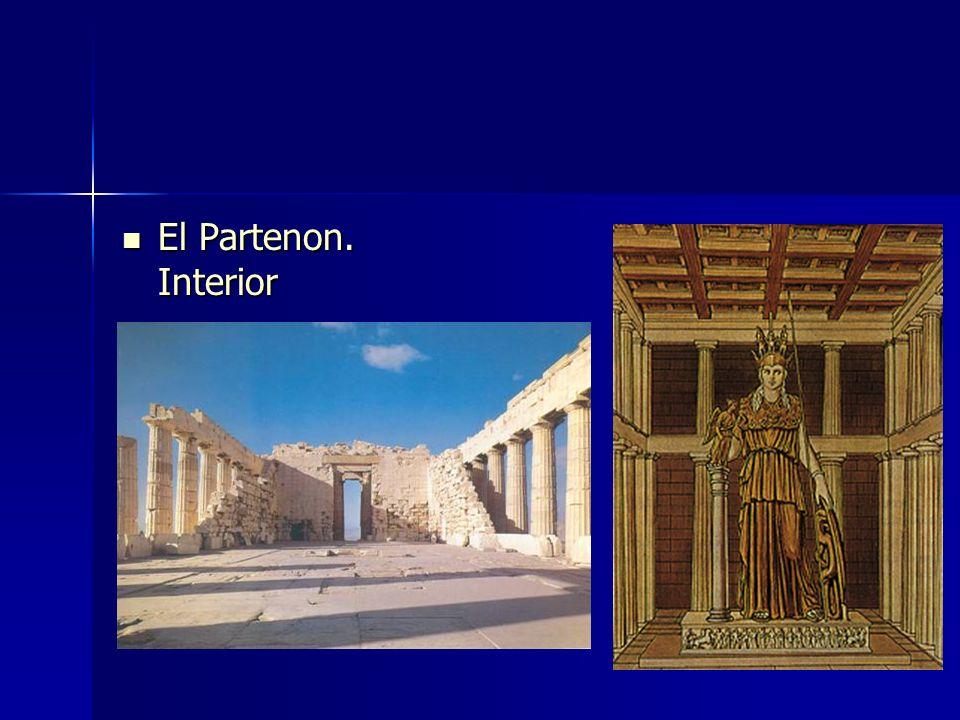 El Partenon. Interior