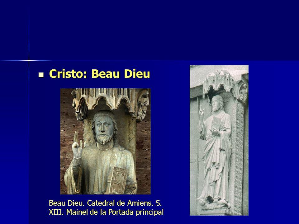 Cristo: Beau Dieu Beau Dieu. Catedral de Amiens. S. XIII. Mainel de la Portada principal
