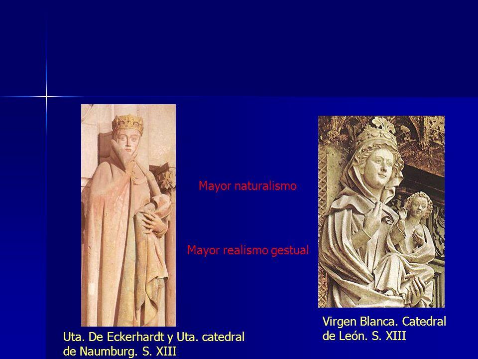 Mayor naturalismoMayor realismo gestual.Virgen Blanca.