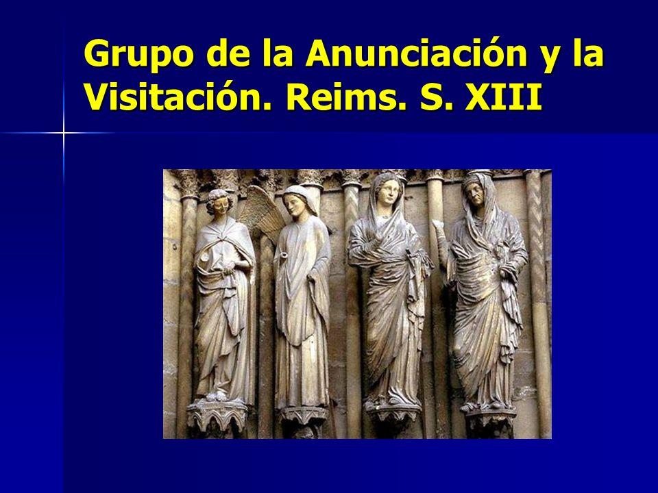 Grupo de la Anunciación y la Visitación. Reims. S. XIII