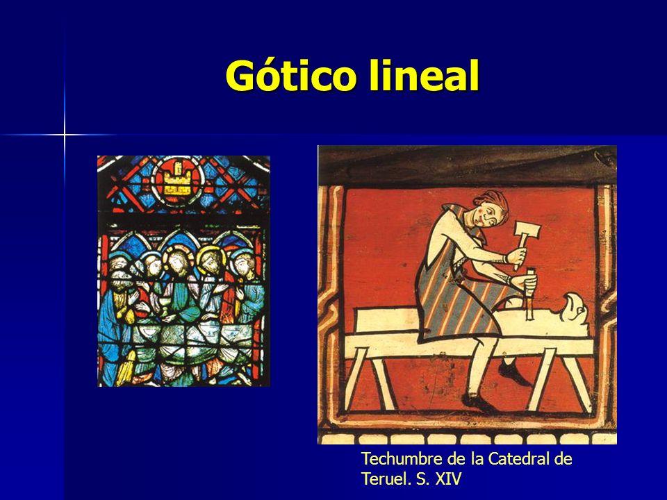 Gótico lineal Techumbre de la Catedral de Teruel. S. XIV