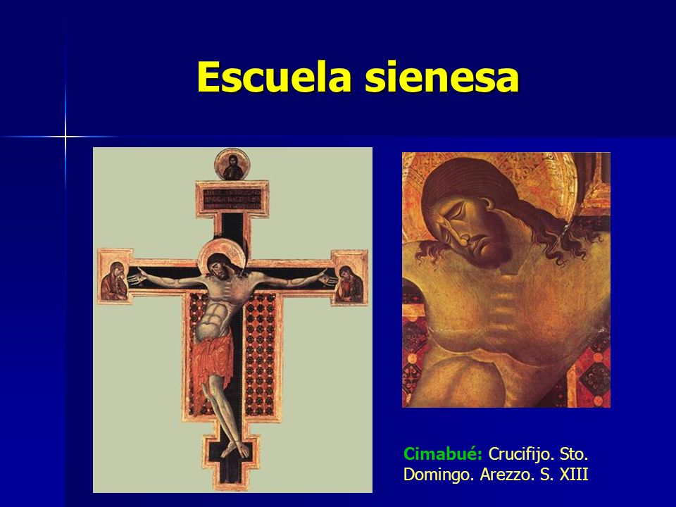 Escuela sienesa Cimabué: Crucifijo. Sto. Domingo. Arezzo. S. XIII