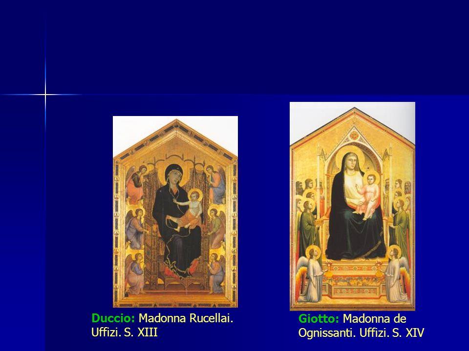 Duccio: Madonna Rucellai. Uffizi. S. XIII