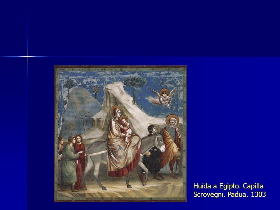 Huída a Egipto. Capilla Scrovegni. Padua. 1303