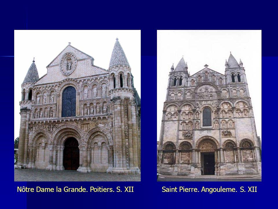 Nôtre Dame la Grande. Poitiers. S. XII Saint Pierre. Angouleme. S. XII