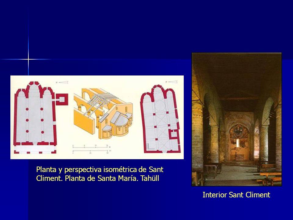 Planta y perspectiva isométrica de Sant Climent. Planta de Santa María