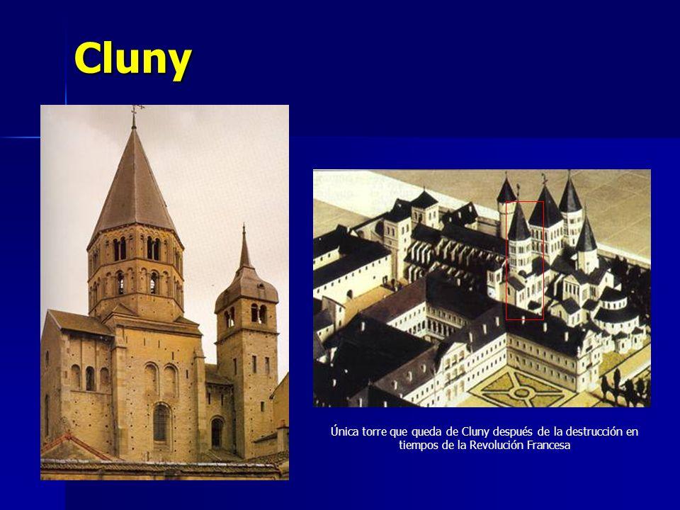 Cluny Única torre que queda de Cluny después de la destrucción en tiempos de la Revolución Francesa
